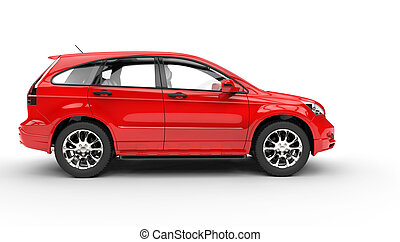 Red SUV Side View