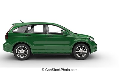 Green SUV Side View