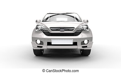 Silver SUV 4X4 Front View