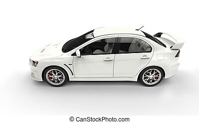White Power Car Top Side View