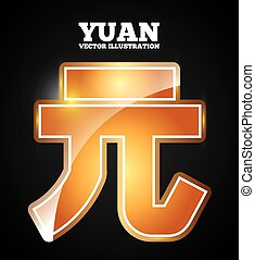 yuan symbol design, vector illustration eps10 graphic