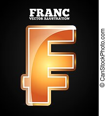 franc symbol design, vector illustration eps10 graphic