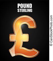 pound sterling symbol design, vector illustration eps10...