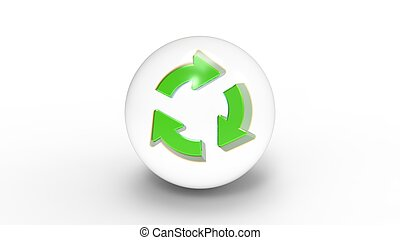 Recycle Glass Button