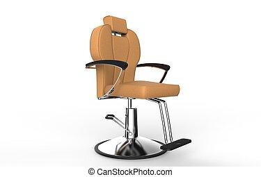 Orange - Brown Hair Salon Chair