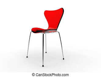Red Modern Glass Chair