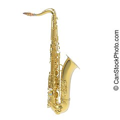 Saxophone Side View