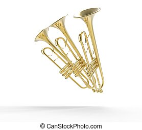 Three Trumpets In Pose