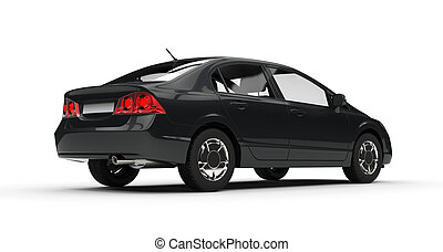 Black Business Car Side View 2