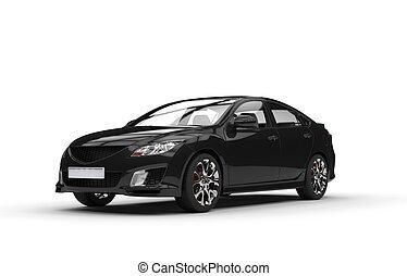 Black Sports Car Showroom