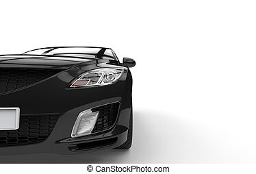Black Car Closeup