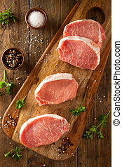 Raw Organic Boneless Pork Chops