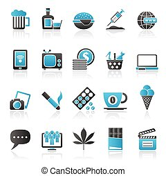 different types of Addictions icons