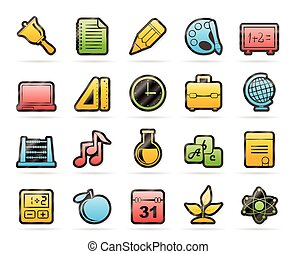 science and studies icons