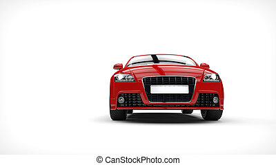 Red Strong Car Front View