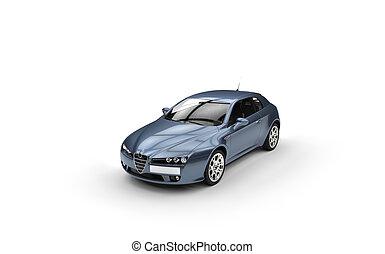 Pale Blue Car
