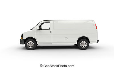 White Van Side View