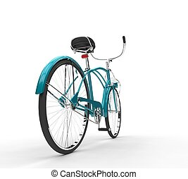 Light Blue Vintage Bicycle