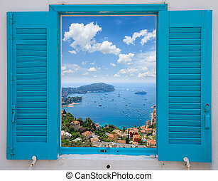 cote dAzur, France - provence window with view of cote...