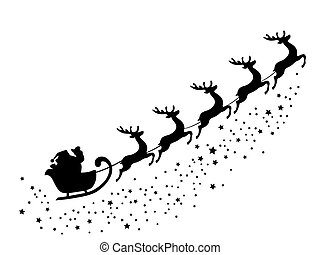 santa  - Santa Claus flying