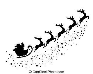 santa  - Santa Claus flying