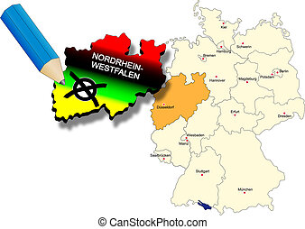 North Rhine-Westphalia state election 9th May 2010 state...