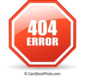 404 error icon - 404 error glass icon