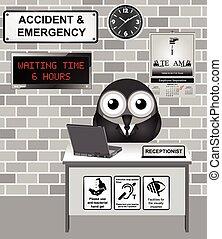 hospital, accidente, y, emergencia,