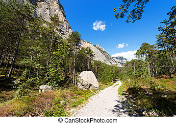 Trail in Sarca Valley - Trentino Italy - Footpath and...