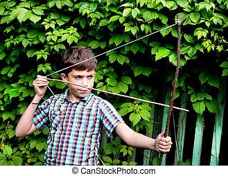 ターンパイク, 男の子, 狙いを定める, ターゲット