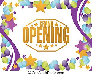 grand opening party background illustration design graphic