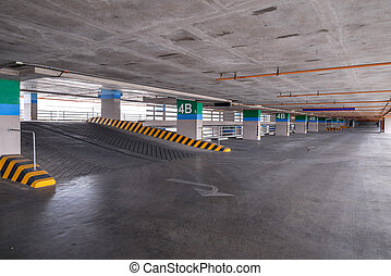 Empty parking garage on the building.