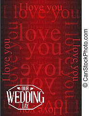 our wedding day stamp I love you background illustration...