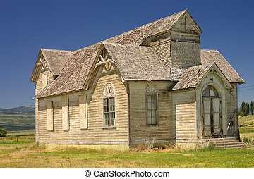 Old church in Utah - Old historic church in Utah
