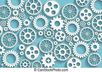 gears background - Creative blue gears background.