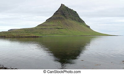 Iceland Landscape - Steady shot of Iceland Lake and...