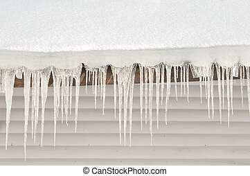 Icicle and Snow Roof abstract background