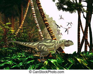 Yangchuanosaurus in Jungle