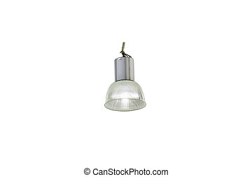 Big ceiling lamp on white background with clipping path -...
