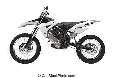 White motocross bike