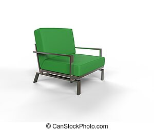 Green modern armchair
