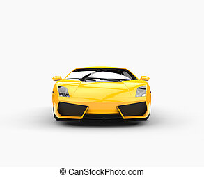 Yellow Supercar Front View