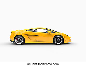 Yellow Supercar Side View