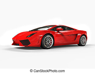 Bright Red Supercar