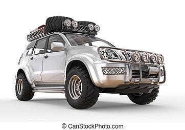 Silver 4wd big SUV