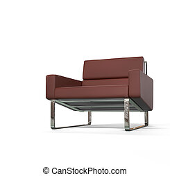 Brown modern armchair