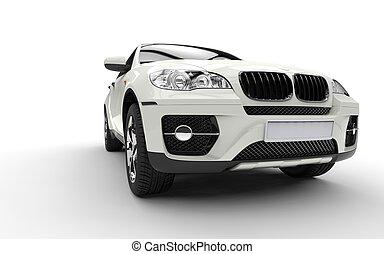 White SUV Undershoot