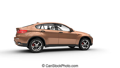 Orange Metallic SUV 2