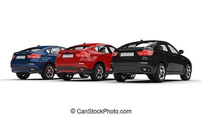 Three SUVs Showroom