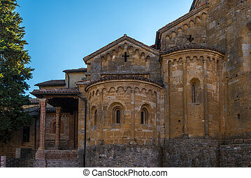 La Collegiata Castell'Arquato side - In the picture the...